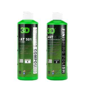 3D AAT Cutting Compound 501 + 3D AAT Finishing Polish and Wax