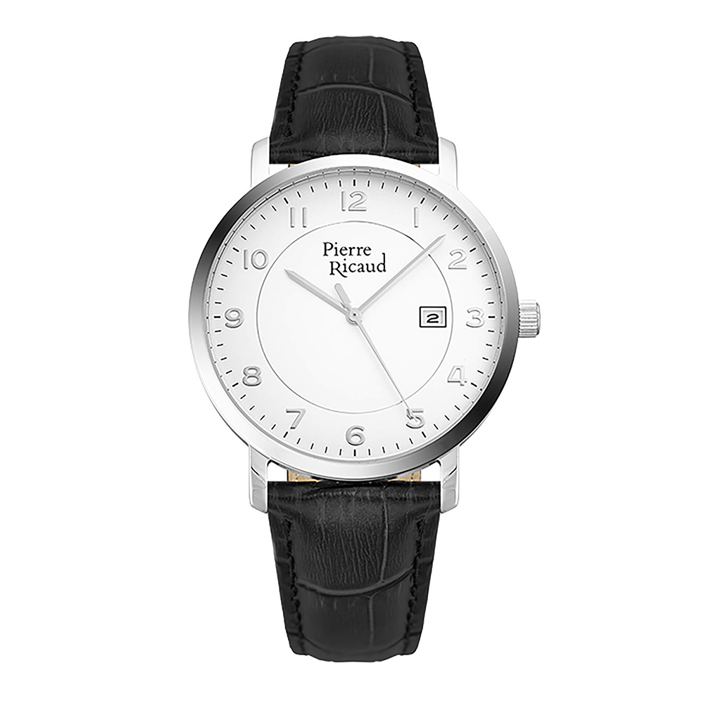 Men's Quartz Watch P97229.5223q On Leather Strap With Mineral Glass Sunlight