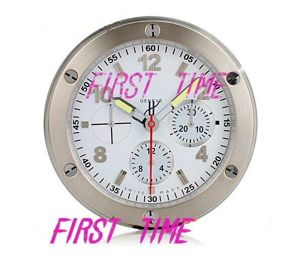 HUB Wall Clock Modern Design High Quality Luxury Brand Stainless Steel  White Color FT-HUB001
