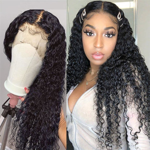 Pelucas de ondas de agua peruanas, peluca Frontal de encaje transparente Hd, pelucas de cabello humano Frontal de encaje Remy, prearrancado para mujeres, densidad 180