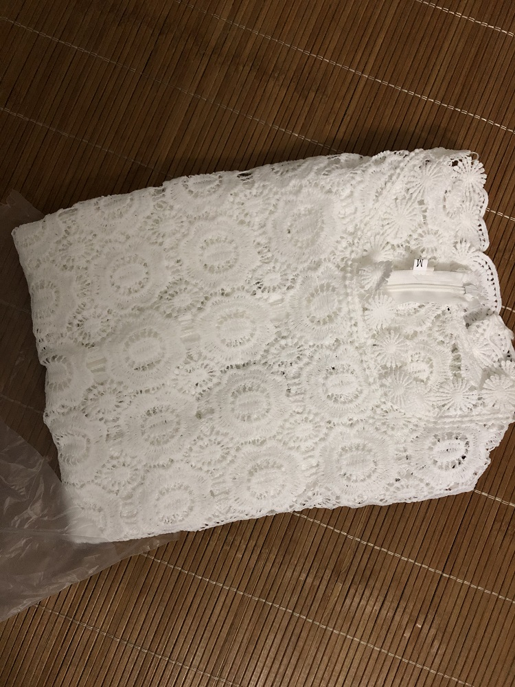 Elegant White Lace Blouse Shirt Women Lantern Sleeve Sexy Hollow Out Embroidery Patchwork Blouses Autumn Tops Female photo review