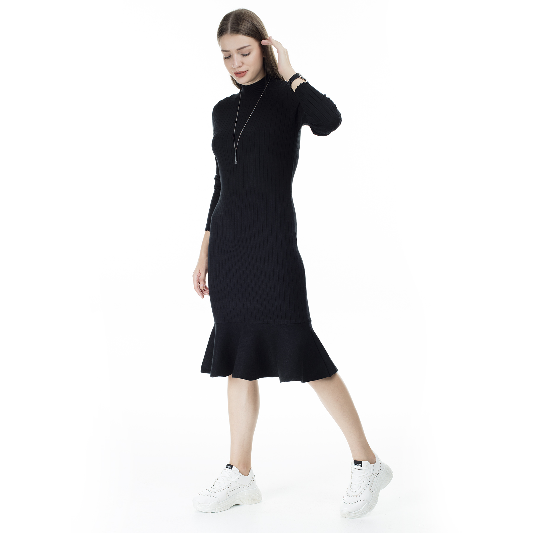Via Dante Skirt Ruffles Turtleneck Dress WOMEN DRESS 29631120VD
