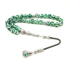 Natural eyes Agates tasbih With Muslim 33 66 99beads stone Personality Tasbih Islam misbaha Muslim Gift Man's Natural bracelet(China)