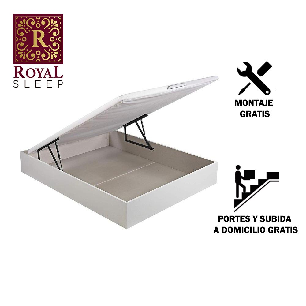 Royal Sleep Bed's Folding Wood 80x182 Color White Shipping And Large Capacity Furniture Bedrooms Home Bed Mount Comfort