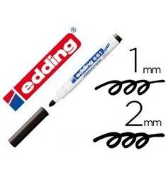 Marcador de edding para whiteboard 661 cor preto redondo toe 1-2mm recarregável 10 pces