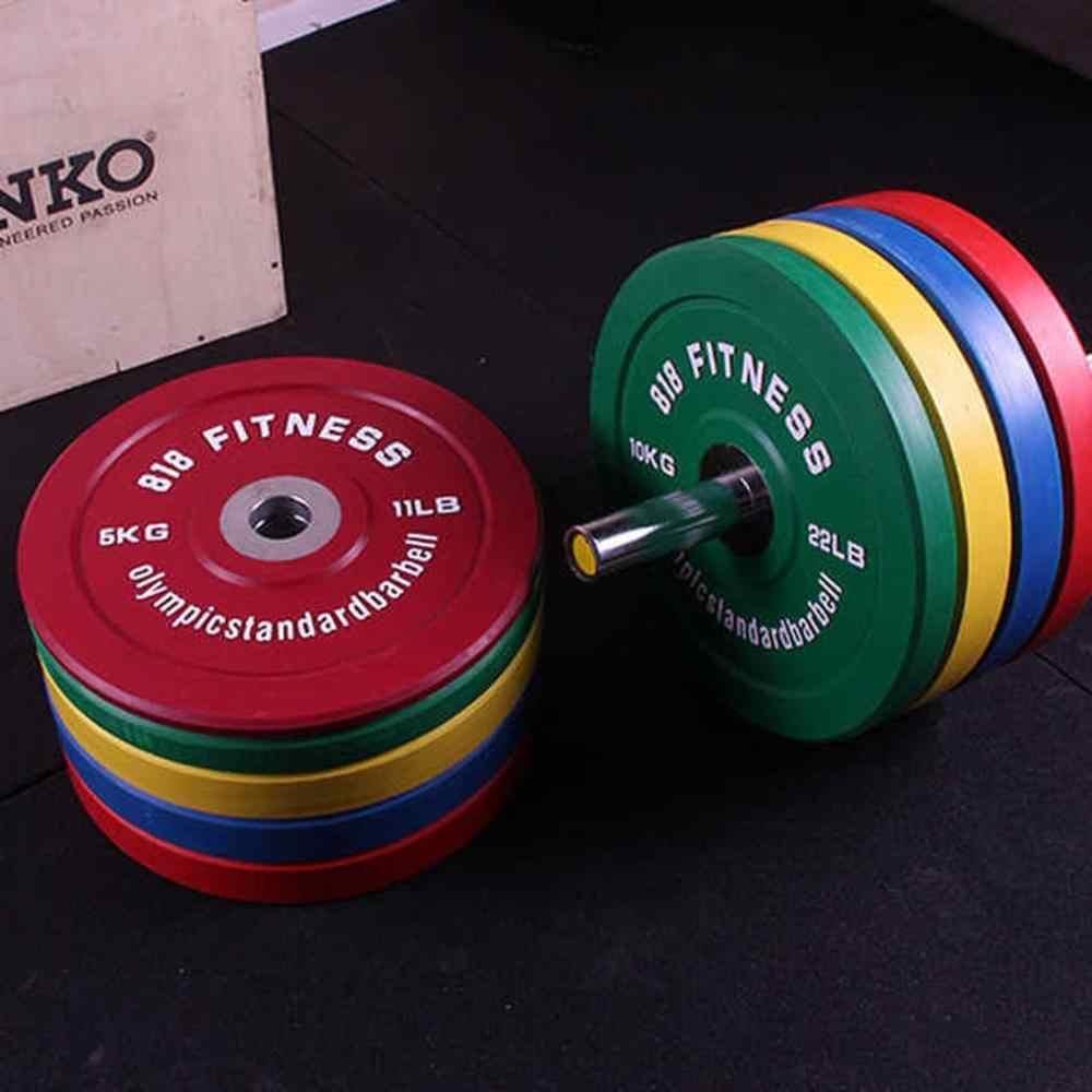 Beste Gym Fitness Apparatuur Aangepaste Bumper 10Kg Platen Rubber Gewichtheffen Barbell Gewicht Platen