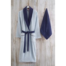 Bathrobe Set 100% Cotton Towel Robe Men Women Night Robe Sleepwear Male Casual Home Unisex lovers Soft Bath Robe