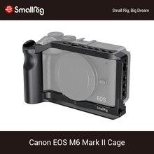 콜드 슈 마운트/통합 핸드 그립/ARRI 스레딩이 장착 된 Canon EOS M6 Mark II 카메라 케이지 용 SmallRig Vlog 슈팅 케이지 2515