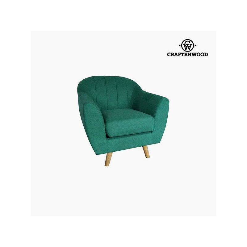 Armchair Green Polyester (83x83x83 Cm) By Craftenwood