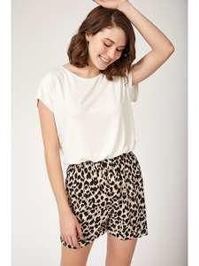 Happiness ist. Women's Pattern Shorts Pajamas set
