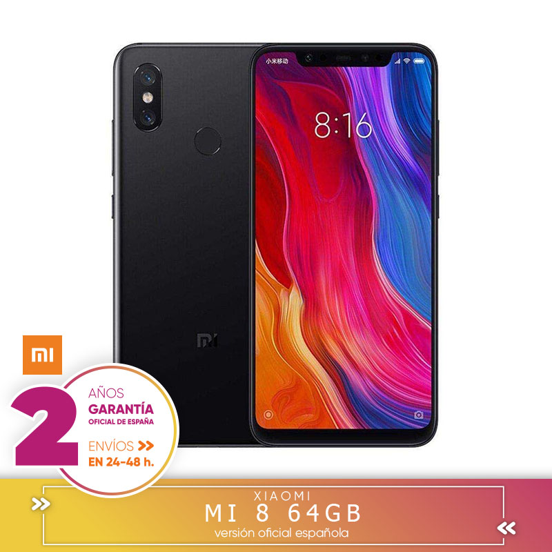 [Official Spanish Version Warranty] Xiaomi Mi 8-Smartphone Dual SIM 6.21