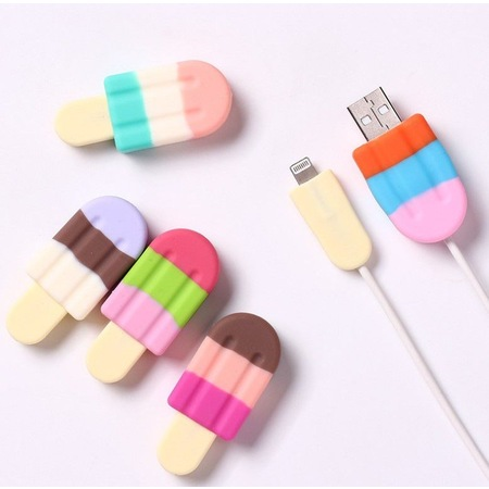 2 PCs Ice Cream Design Charging Cable Protector 428194431