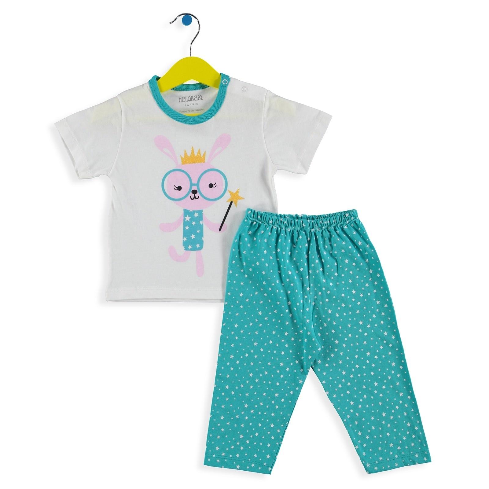 Ebebek HelloBaby Short Sleeve Pyjamas Set