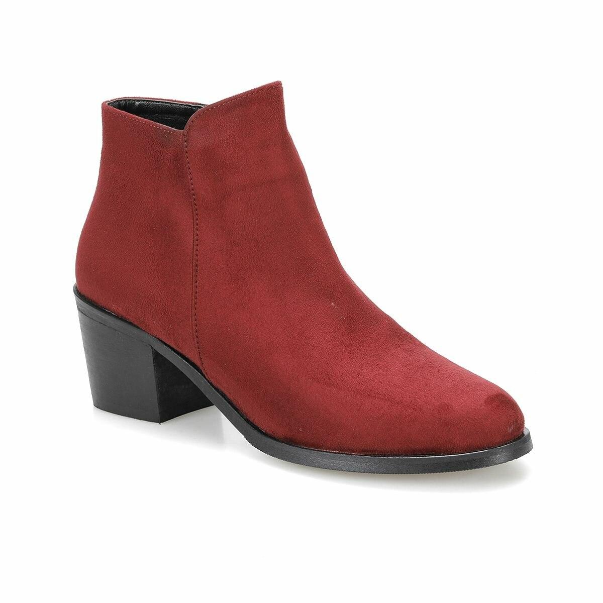 حذاء بوت نسائي FLO coxwell 31z جلد المارون بوتيجو