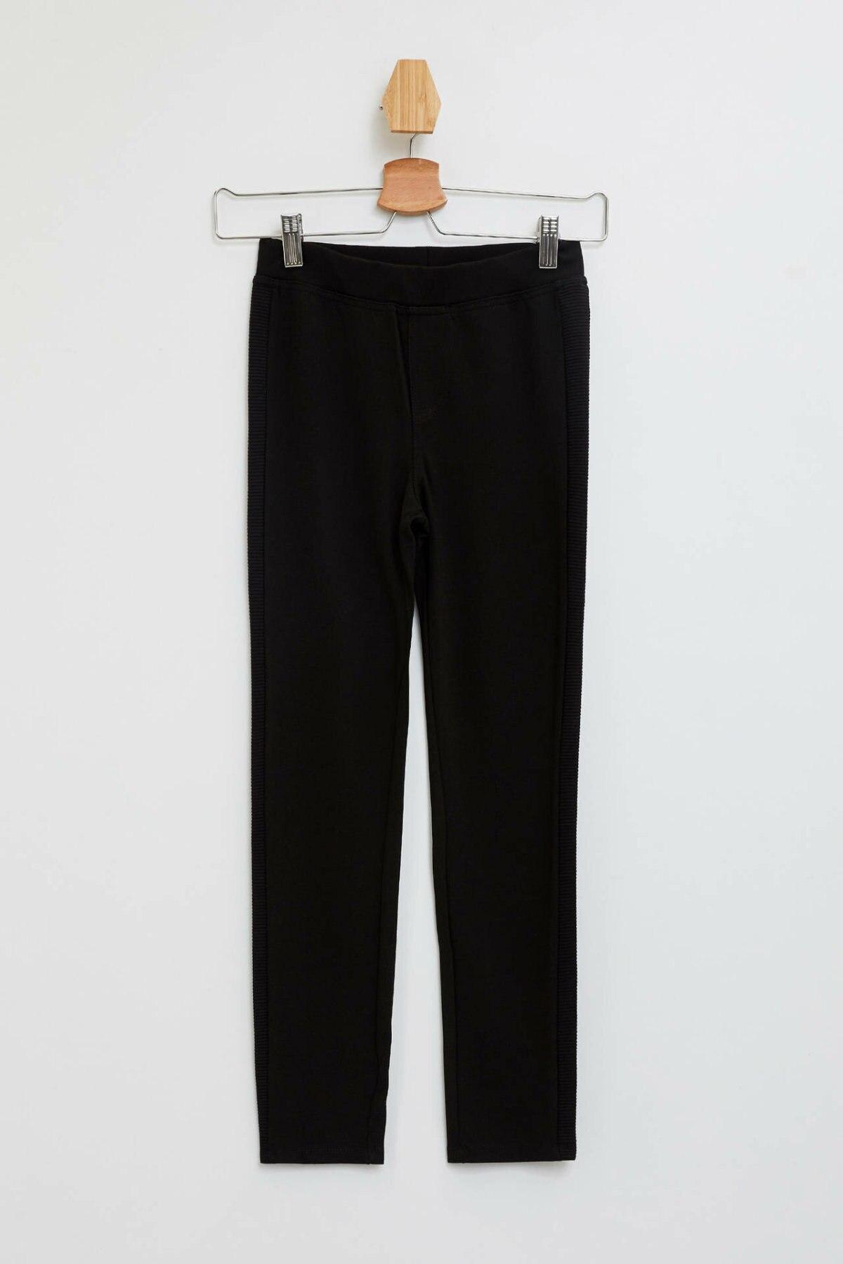 DeFacto Girl Autumn Black Legging Pants Girls Casual Fit Slim Long Pants Girl Elastic Leggings-L5353A619AU