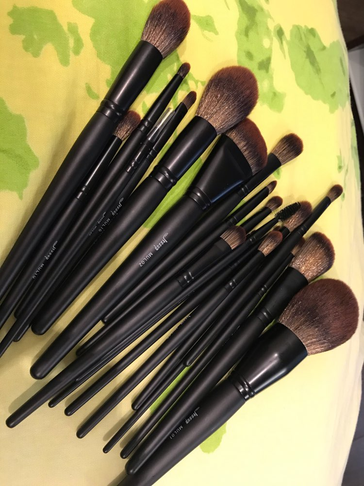 Jessup New Arrival Makeup brushes brushes Phantom Black 3-21pcs Foundation brush Powder Concealer Eyeshadow Synthetic hair reviews №2 49080