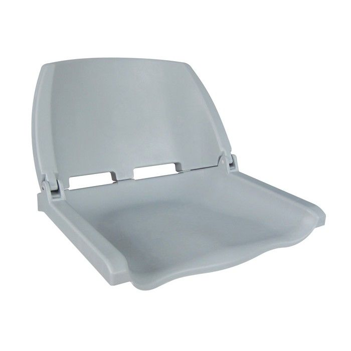 Chair Plastic Folding Folding Plastic Boat Seat, Gray 75110G
