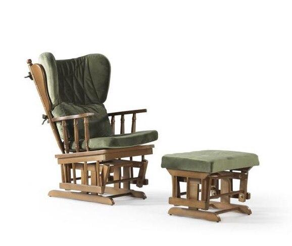 Rocking Gliding Chair w/ Sliding Ottoman 1