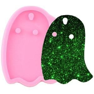 Блестящие Хэллоуин призрак силиконовые формы брелок кулон Полимерная глина DIY брелок эпоксидная смола формы