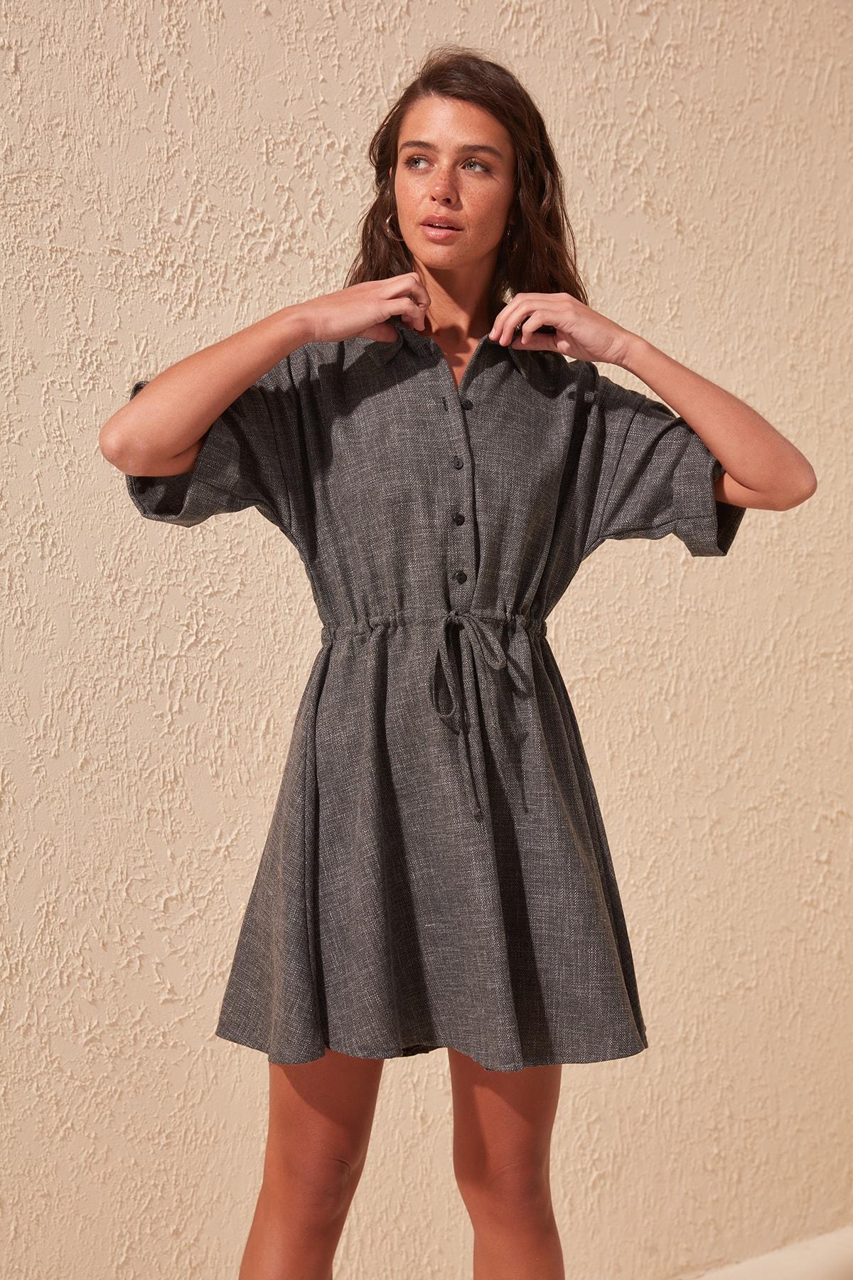 Trendyol Shirt Collar Dress TWOSS20EL0432