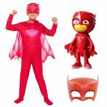 Pj máscaras traje com máscara figura brinquedo conjunto roupas cosplay terno crianças pj máscaras catboy gekko owlette festa de aniversário crianças presente