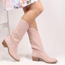 Sail lakers-powder nubuck com zíper botas femininas de verão