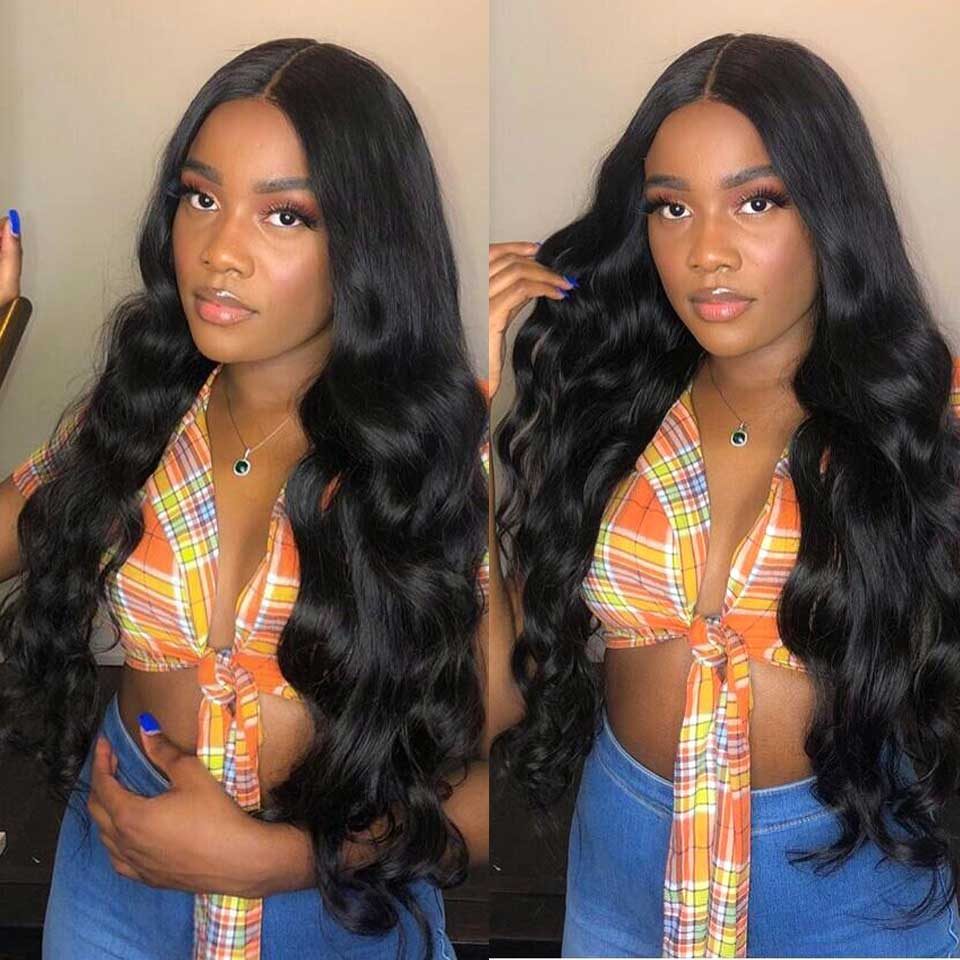 180% 200% Brazilian Body Wave Wig Transparent Invisible Undetectable Lace Front Human Hair Wigs Pre Plucked For Black Women
