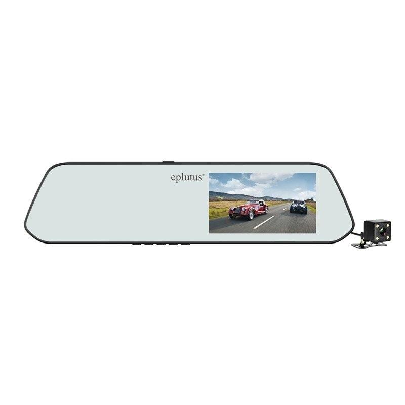 Автомобильный видеорегистратор-зеркало Eplutus D01 с 2-я камерами