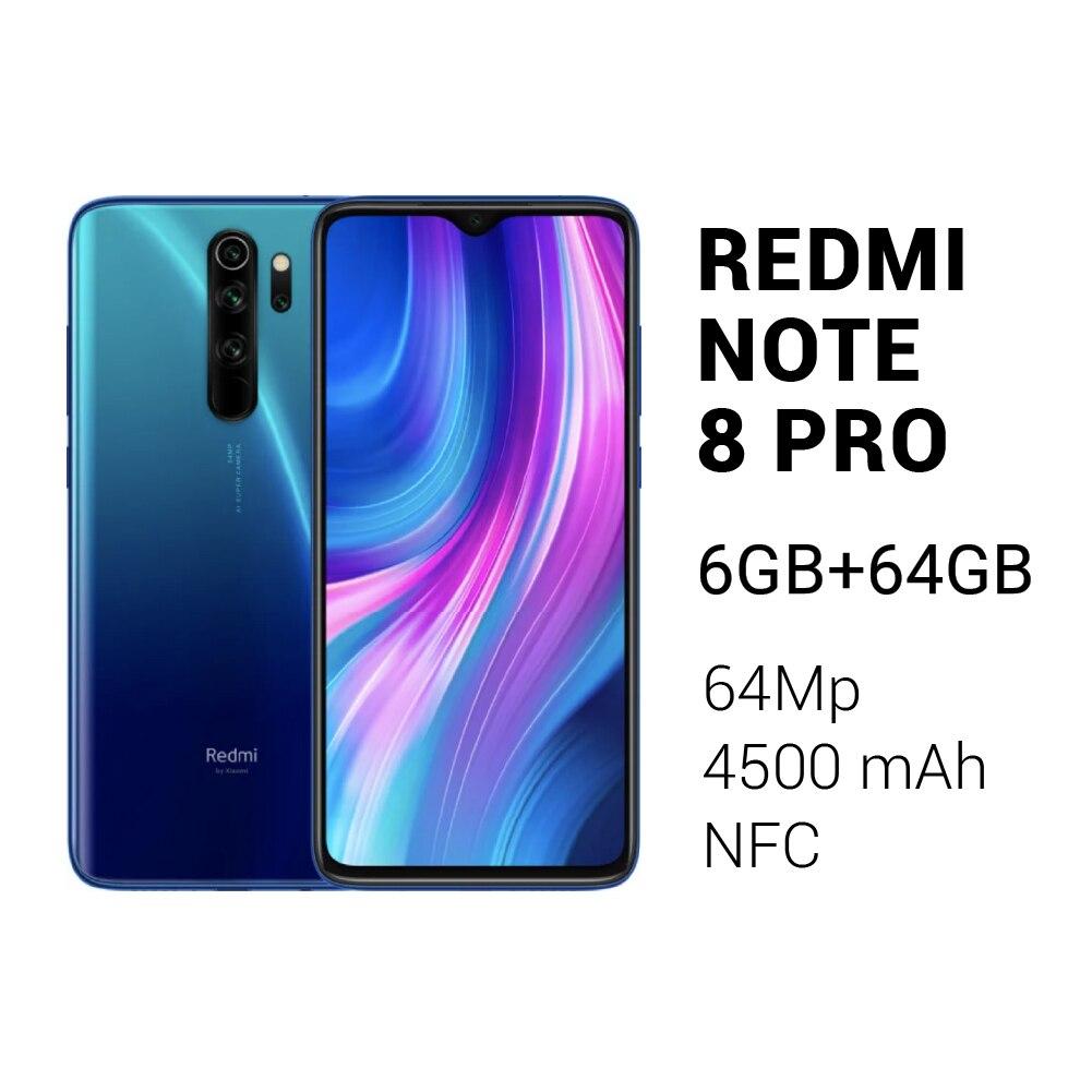 Смартфон Xiaomi Redmi Note 8 Pro /6+64GB /Камера 64Мп /NFC /4500mAh/ [Доставка от 2 дней, Ростест, Официальная гарантия]