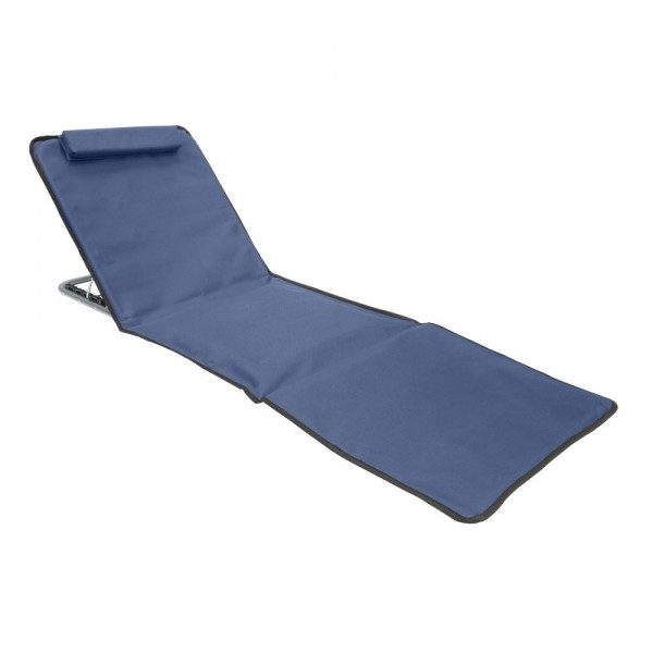 Beach Mat Padded Recliner With Folding Backrest