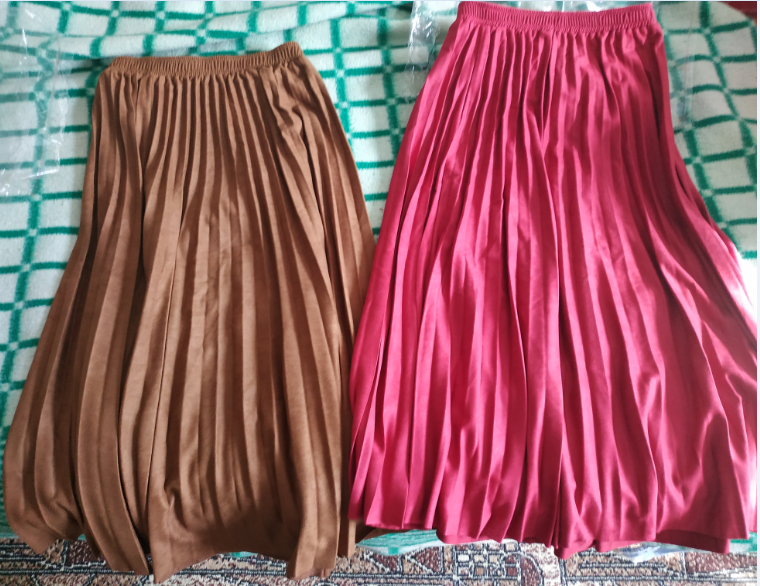 Mid Length Girl Pleated Skirt Autumn And Winter Female Deerskin Women'S Skirts Long Skirt High Waist 10 Colors photo review