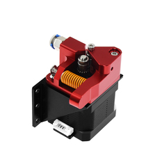Aluminum Upgrade Dual Gear Mk8 Extruder for Extruder Ender 3 CR10 CR 10S PRO RepRap 1.75mm 3D Parts Drive Feed double pulley