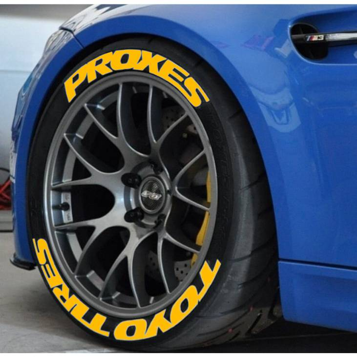 Toyo Tires Proxes Yellow 3D Permanent Tyre Tire Sticker Decals High Quality 15