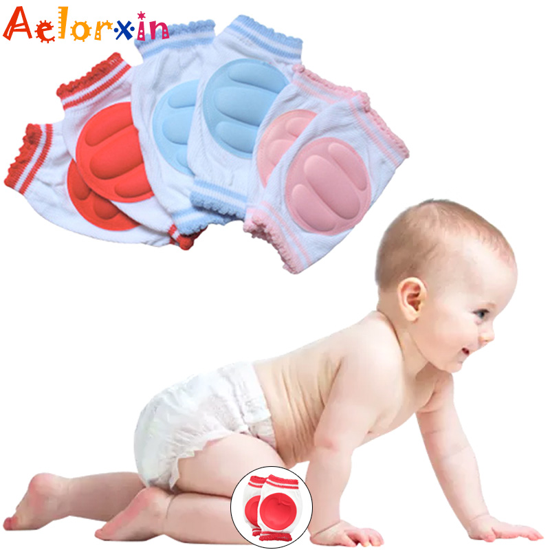 1Pair Cotton Sponge Breathable Toddler Walking Socks Baby Crawling Toddler Knee Cover Sock Children Knee Pads Protection