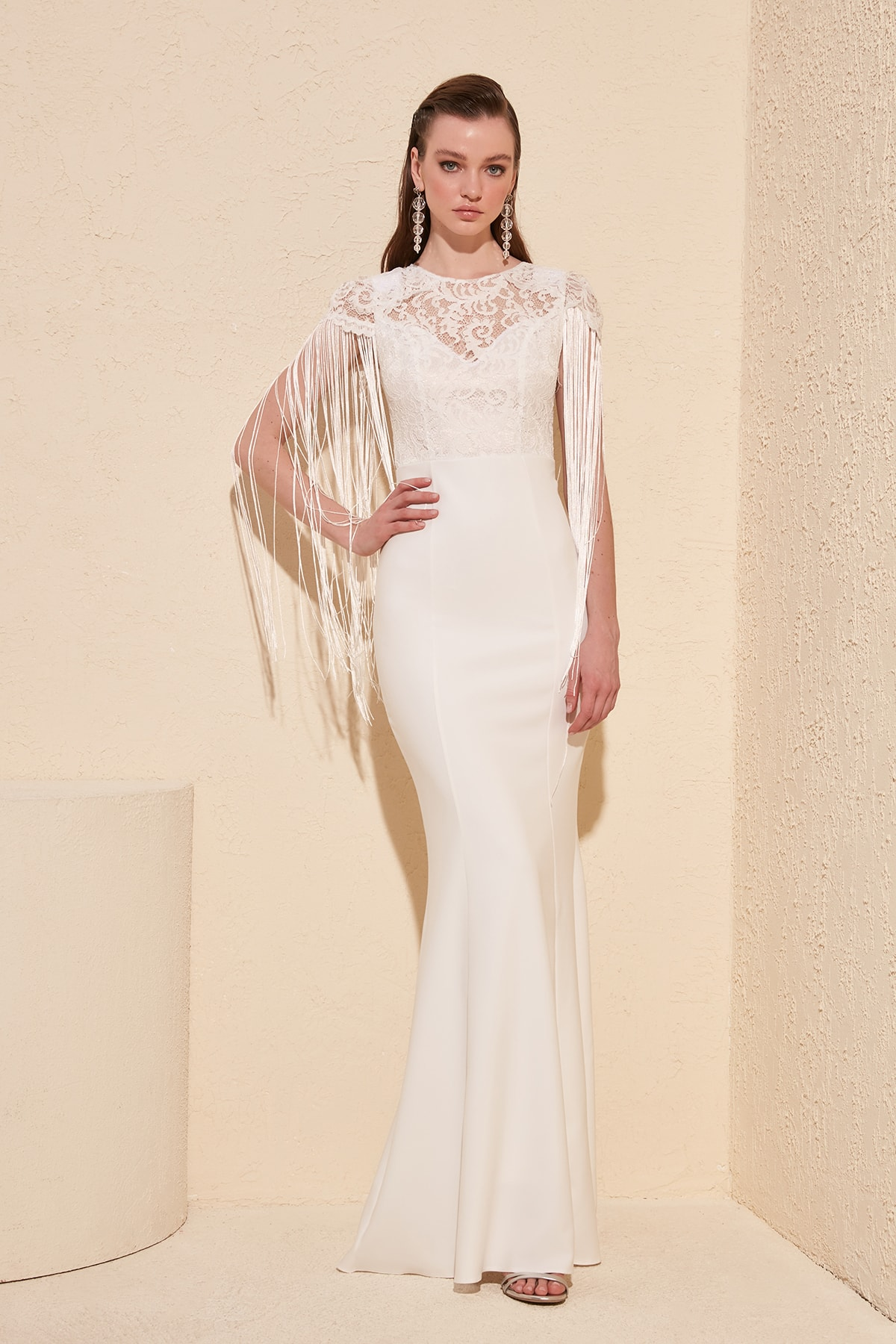 Trendyol Tassel Detail Evening Dress TPRSS19FZ0296