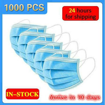 2500pcs DROPSHIPPING Disposable  Anti dust mask mouth korean blue Face Mask