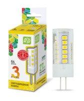 LED lamp LED JC standard 3 W 12 V G4 3000 270Лм ASD