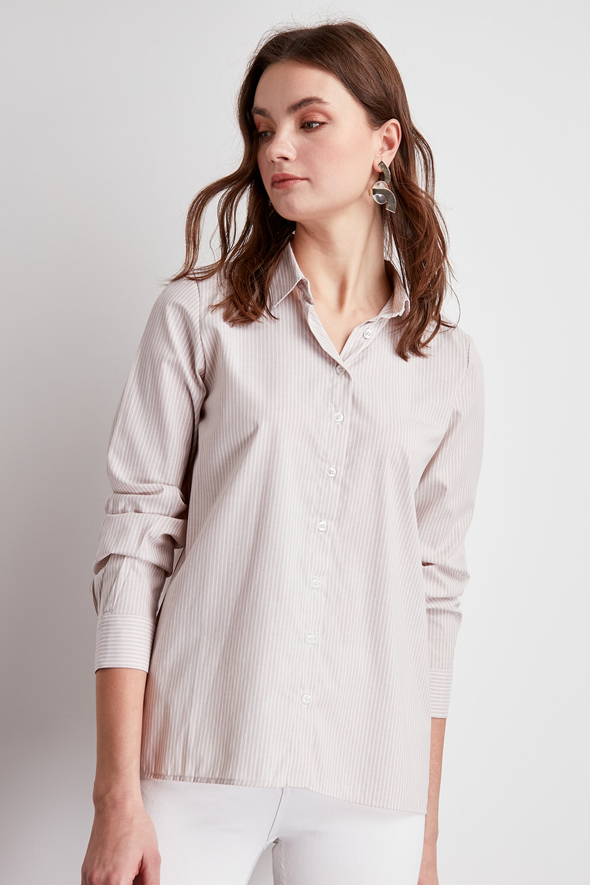 Trendyol Striped Shirt TWOSS20GO0050