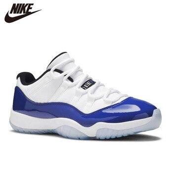 Фото - Nike Air Jordan 11 Retro Basketball Shoes Men Women Sneakers Low Concord Sketch Bred 2019 CAP AND GOWN CONCORD 23 UNC кроссовки air jordan 11 retro low