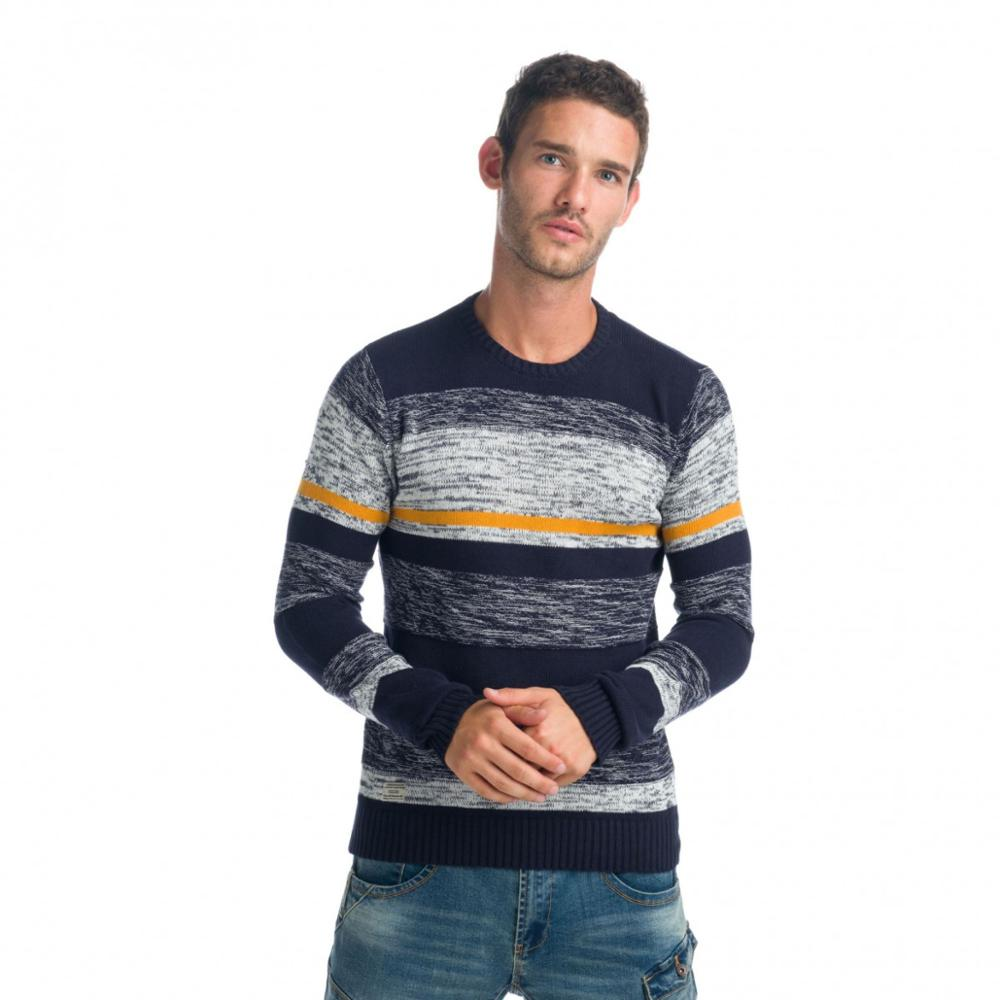 KOROSHI JERSEY STRIPES AND HEATHER EFFECT MAN