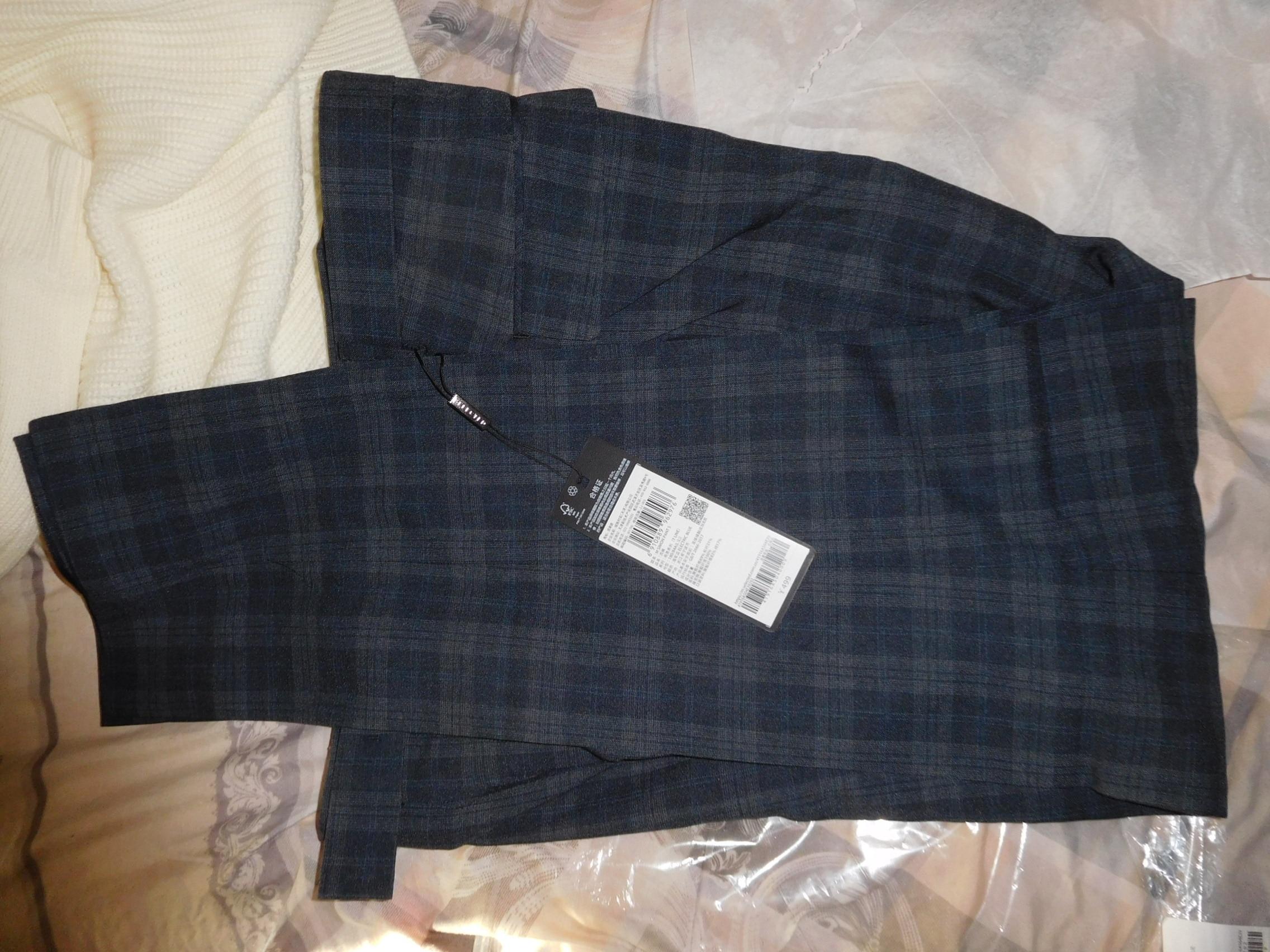 SELECTED Men's Dark Check Slim Fit Suit Pants T|41916A504