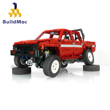 BuildMoc Technic Engineering Dump Truck Building Blocks Vehicle Car Bricks Set Educational DIY Toys Children Boys hc magic diamond building blocks bricks cartoon money pot pikachu anmie build blocks educational toys for boys girls children