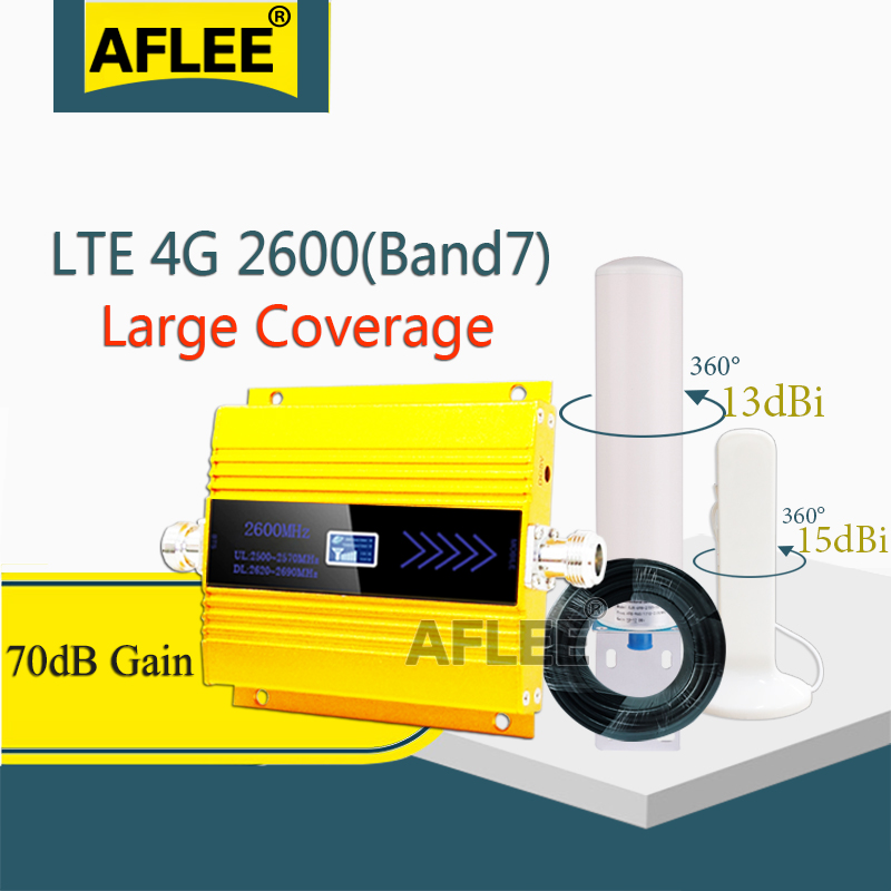 High Gain!!4g Signal Booster FDD LTE 2600mhz Band7 GSM Signal Repeater 4G LTE 2600 Mobile Network Booster Cellular Amplifier