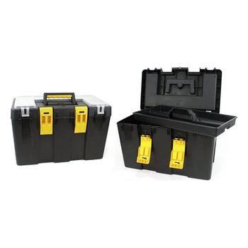 цена Toolbox with Compartments Bricotech Calgari Black Yellow (47 X 26 x 30 cm) онлайн в 2017 году