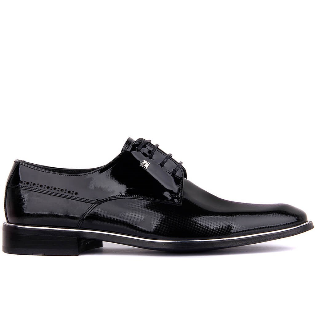 Fosco-Black Japanned Leather Neolit Men 'S Classic Shoes