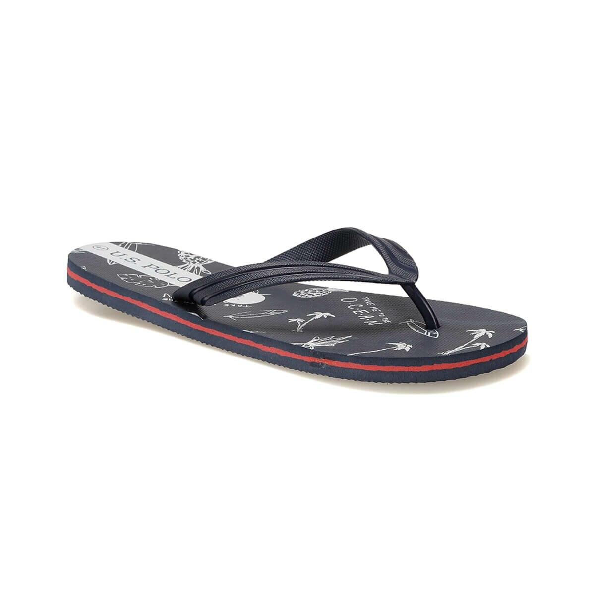 FLO NERO Black Male Slippers U.S. POLO ASSN.