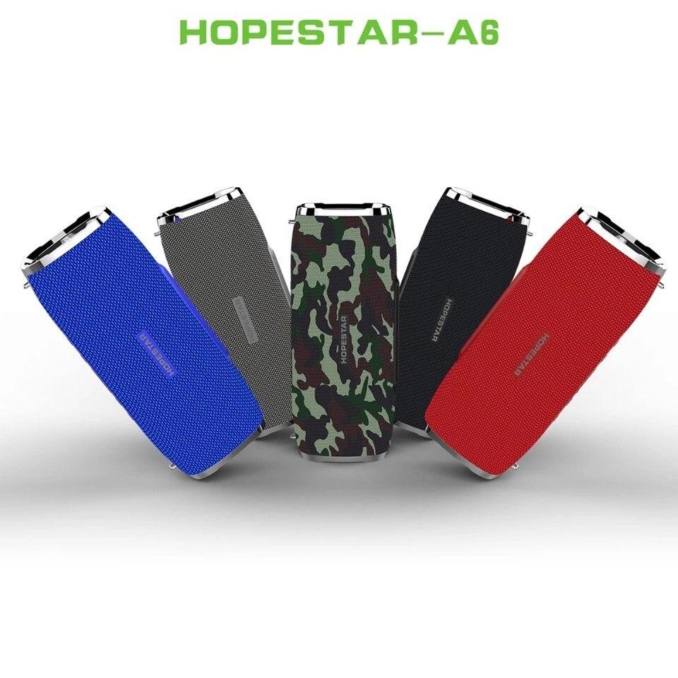 Hopestar a6 coluna 35 w alto-falante bluetooth para baixo subwoofer portátil sem fio alto falante estéreo à prova dwaterproof água