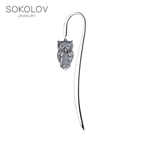 Bookmark SOKOLOV Fashion Jewelry Silver 925 Women's/men's, Male/female