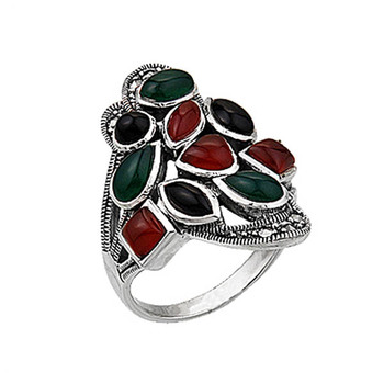 Silver 925 Sterling Marcasite Ring