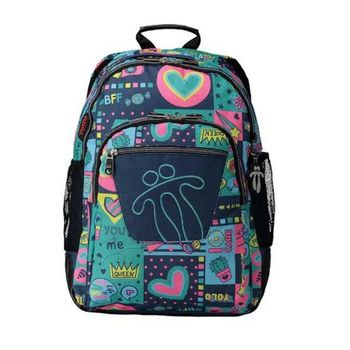 School Bag Queen Totto Crayoles Green (44 X 33 x 14 cm)